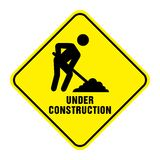 Road Under Construction Sign. On white background vector illustration