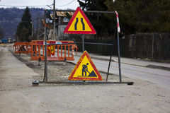 Road under construction Royalty Free Stock Photo