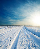 Road under snow Royalty Free Stock Photo