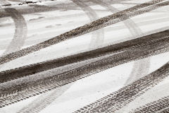 Road under the snow Royalty Free Stock Images