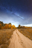 Road under starlight. Stock Photography