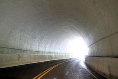 Road in underground tunnel Royalty Free Stock Images