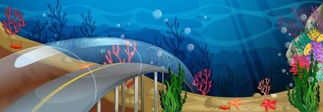 Road underwater Royalty Free Stock Image