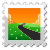 Road into the unknown stamp Stock Image