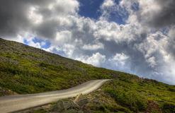 Road up the Mountain. A road takes you to the top of the mountain Stock Image