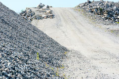 Road up to gravel top Royalty Free Stock Image