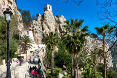Road up to mountain of Guadalest. Spain Royalty Free Stock Photos