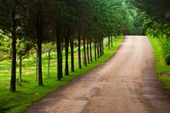 Road in upcountry of Thailand Stock Photography