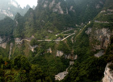 Road upou TianMen Mountain Stock Image