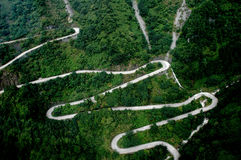 Road upou TianMen Mountain Royalty Free Stock Images