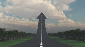 Road with upward arrow Stock Images