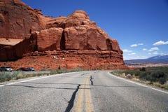 Road in the USA, south desert Utah Stock Photos