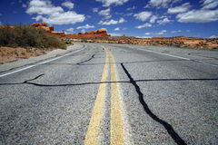 Road in the USA, south desert Utah Royalty Free Stock Photography