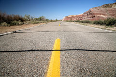 Road in the USA, south desert Utah Royalty Free Stock Photos