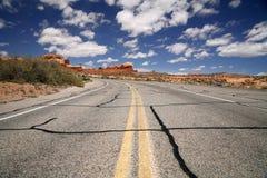 Road in the USA, south desert Utah Stock Image