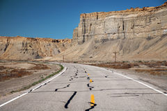 Road in the USA, south desert Utah Royalty Free Stock Images