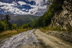 A road at Ushuaia, Patagonia Argentina royalty free stock images
