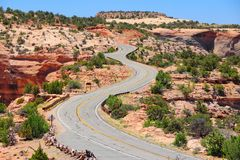 Road in Utah Royalty Free Stock Photos