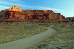 Road in the Utah desert. Royalty Free Stock Photos
