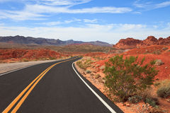Road through the Valley of Fire stock photos
