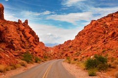 Road through the Valley of fire Royalty Free Stock Image