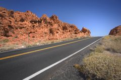 Road in Valley of Fire. Main road in Valley of Fire Nevada Stock Photography