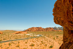 Road through Valley of Fire Royalty Free Stock Images
