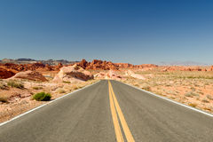 Road through Valley of Fire Royalty Free Stock Photography