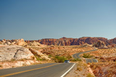 Road through Valley of Fire Royalty Free Stock Image