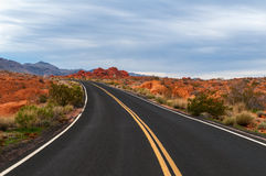 Road through Valley Of Fire Stock Photography