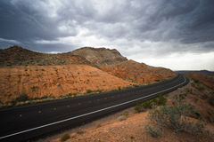 Road in Valley of Fire Royalty Free Stock Images