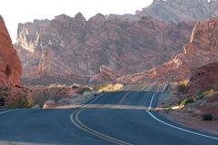 Road through Valley of Fire Stock Photo