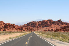 Road in Valley of Fire Nevada Royalty Free Stock Photo