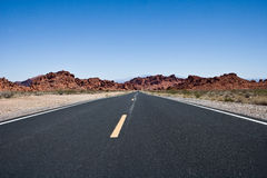 Road in the Valley of Fire. A road in the Valley of Fire in Nevada Royalty Free Stock Images