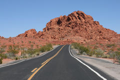 Road in Valley of Fire, Nevada Royalty Free Stock Images
