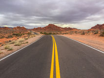 Road through the Valley of Fire Royalty Free Stock Images