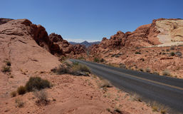 Road in the Valley of Fire (Nevada, USA) Royalty Free Stock Images