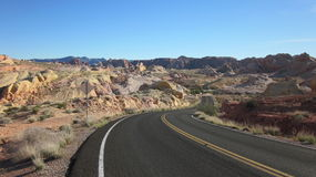 The Road Through Valley of Fire Park Stock Photography