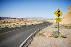 Road in the Valley of Fire State Park Stock Photo