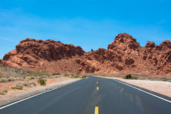 Road in Valley of Fire State Park Nevada, USA Royalty Free Stock Photography