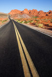 Road through Valley of Fire State Park Stock Image