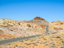 Road through the Valley of Fire, USA Stock Image