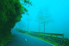 ROAD OF VALPARAI WITH MIST Royalty Free Stock Images