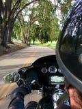 Road van de fietsfietser OTS POV Californië stock afbeelding