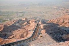 Road van Hafeet van Jebel Stock Afbeeldingen