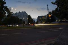 Road van Londen Edgware Lang blootstellingsschot Royalty-vrije Stock Afbeeldingen