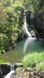 Road van Maui aan Hana Waterfall Royalty-vrije Stock Foto's