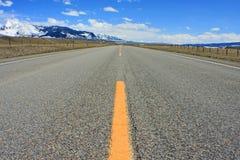 Road van Montana stock foto's
