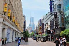Road van Shanghai Nanjin Stock Foto