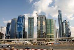 Road van Zayed van de sjeik in Doubai royalty-vrije stock afbeelding